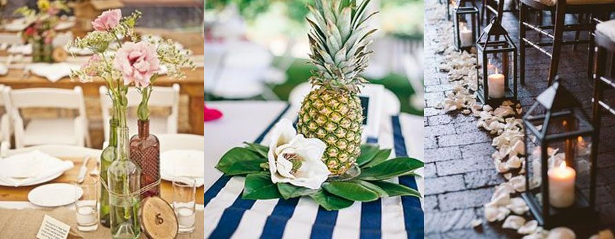 5 Wedding Centerpieces With Minimum Flowers