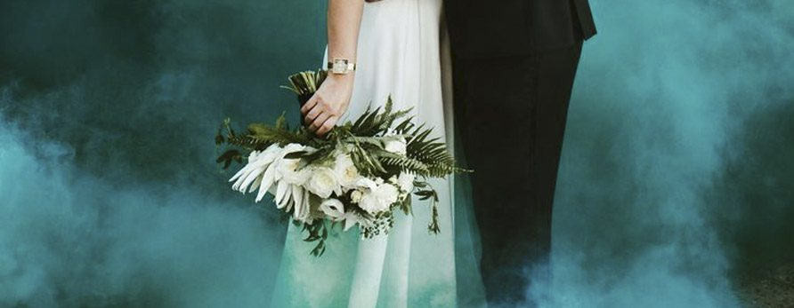 Trend Alert: Smoke Bombs for Weddings