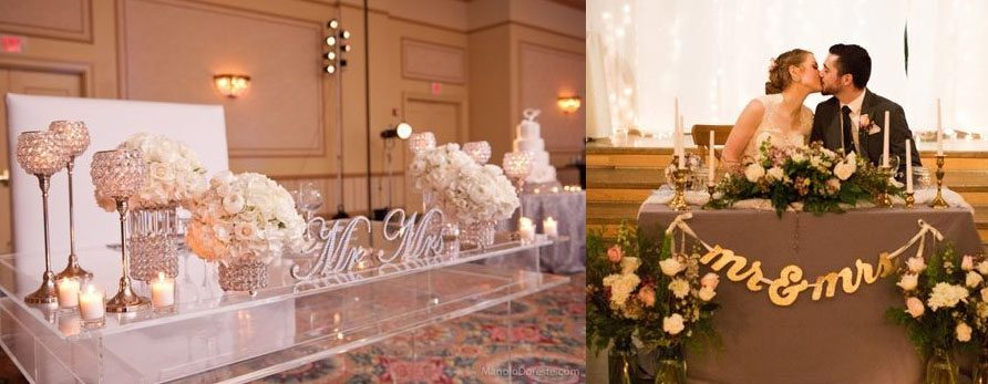 5 Tips to Decorate a Sweetheart table