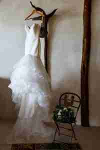 Hanging Real Bridal Gowns